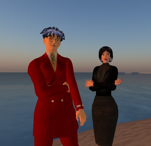Lee Laperriere and Isabella Scheflo at the Better Communication Results beach house. Click on this image to visit them in Second Life.