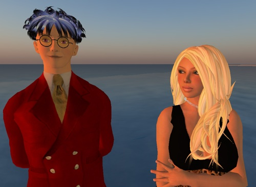 Penny Cazalet looks despairingly at Lee Laperriere, wondering if he will EVER be as wise and knowledgeable as her. Clink on her to visit her in Second Life